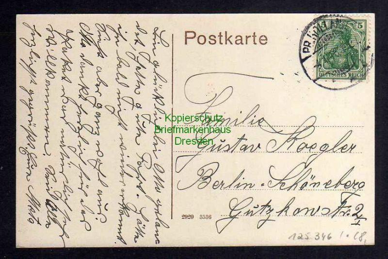 Ansichtskarte Preußisch Holland 1916 An der Gerberei und Mühle 1