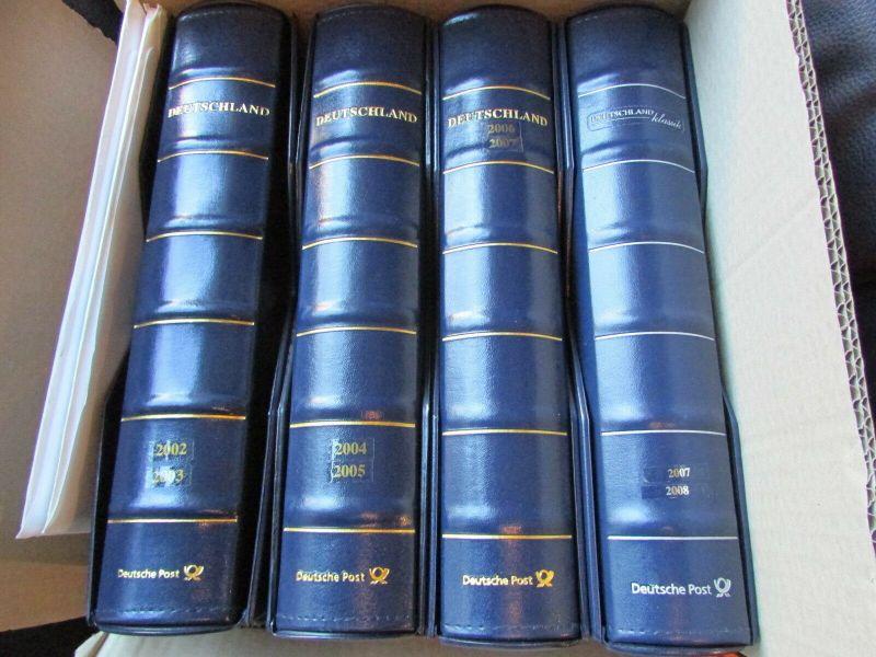 Deutschland Klassik 2002 - 2009 in 4 Ringbindern Vordrucktext mit Klemmtaschen w 1