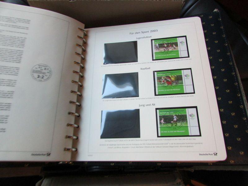 Deutschland Klassik 2002 - 2009 in 4 Ringbindern Vordrucktext mit Klemmtaschen w 4