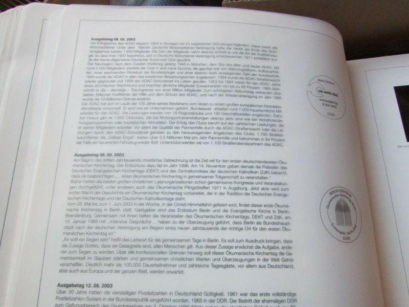 Deutschland Klassik 2002 - 2009 in 4 Ringbindern Vordrucktext mit Klemmtaschen w 5
