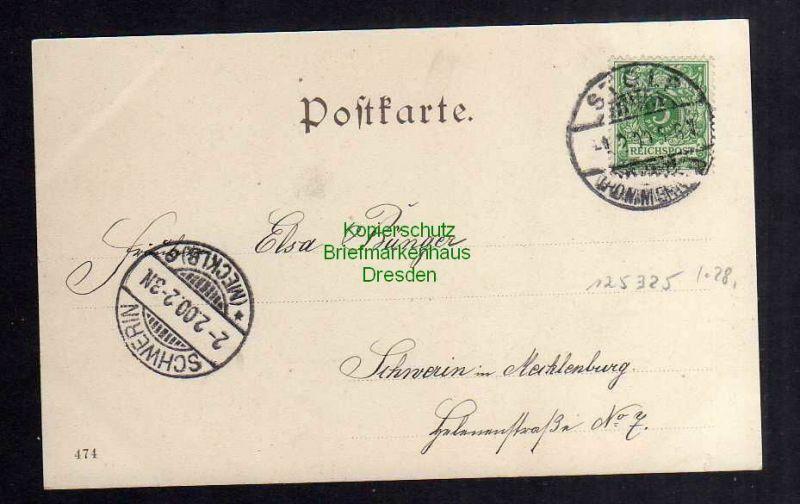 Ansichtskarte Stolp i. Pom. 1900 Bahnhofstrasse Verlag M. Schröder 1