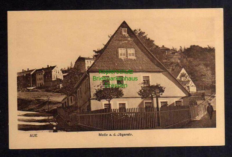 Ansichtskarte Aue 1911 Motiv Haus an der Jägerstraße 0