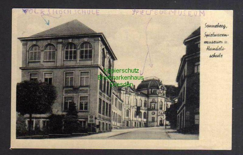 Ansichtskarte Sonneberg Spielwarenmuseum u. Handelsschule um 1935 0