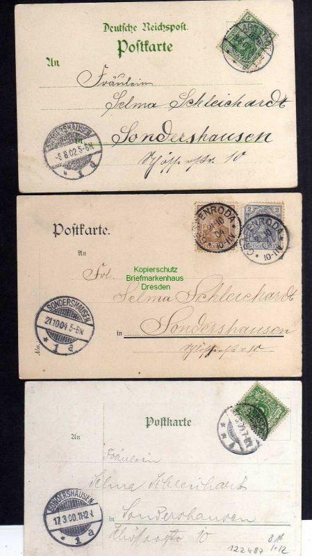 3 Ansichtskarte Arnstadt Litho 1902 1200 Jahrfeier 1904 Ruine Neideck 1900 1