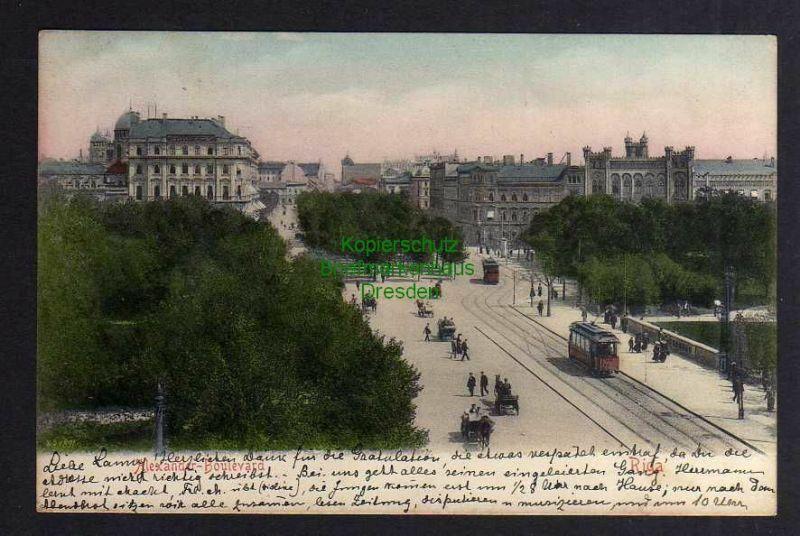 Ansichtskarte Riga Lettland 1905 Alexander Boulevard 0