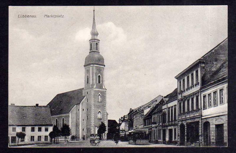 Ansichtskarte Lübbenau Spreewald Marktplatzum 1910 0