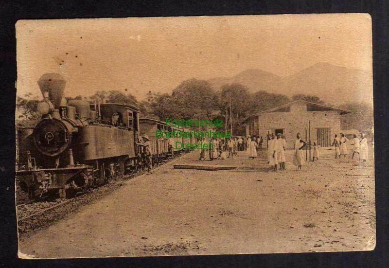 Ansichtskarte Mombo 1911 DOA Bahnhof Gleisseite Zug Lok Kilimatinde P. Singidda nach 0