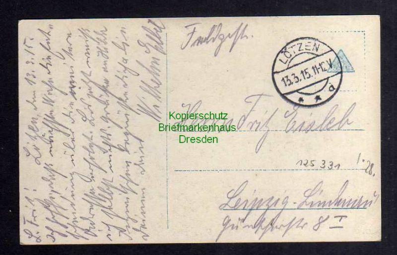 Ansichtskarte Lyck Lötzen 1915 Fotokarte Winterschlacht Masuren Kaiser inmitten sein 1