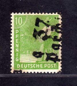 h2659 Handstempel Bezirk 37 Parchim a 10 Pfg. * gepr. BPP