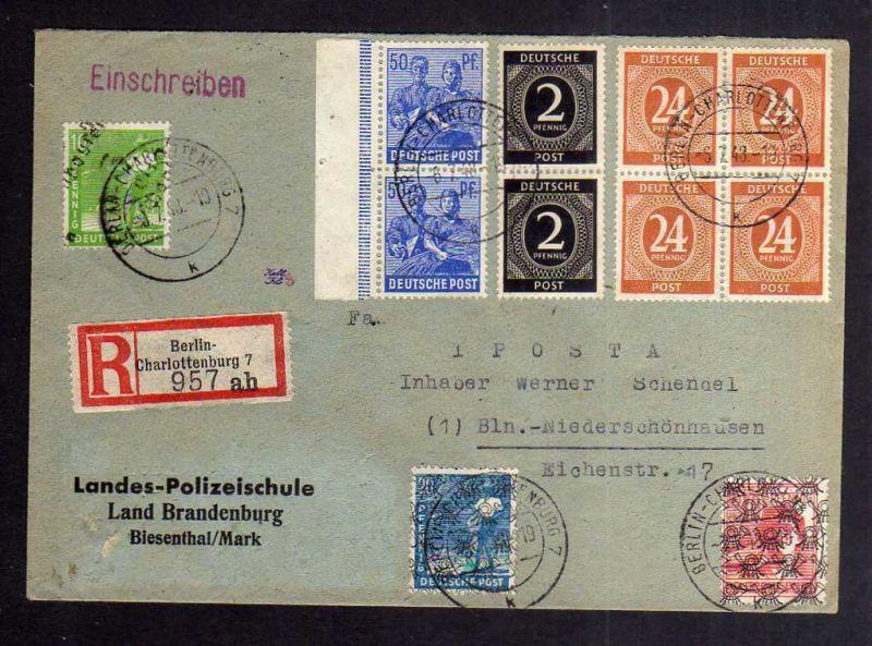 H2813 Handstempel Bezirk 3 Berlin Niederschönhausen Aufgabe Westberlin Charlotte