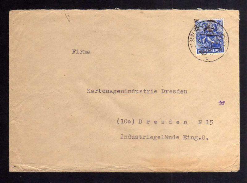 H2814 Handstempel Bezirk 3 Berlin 8 Aufgabe Westberlin Charlottenburg nach Dresd