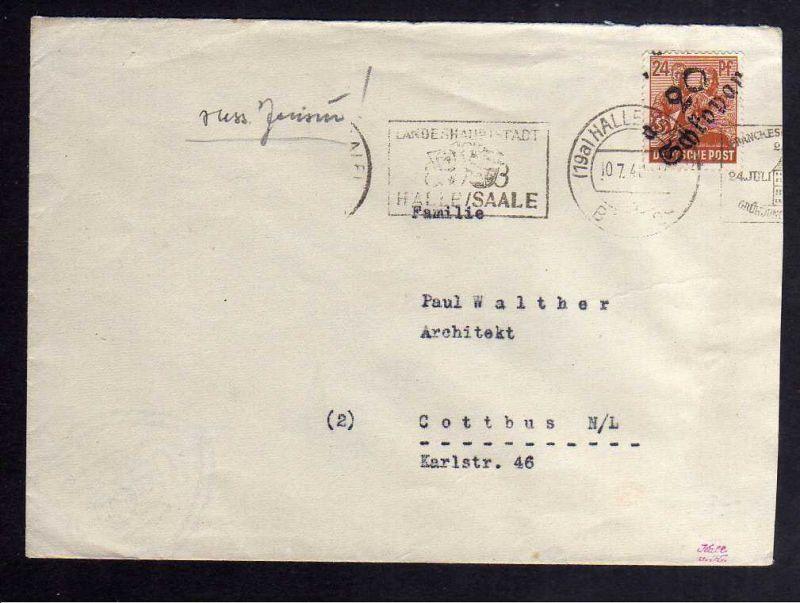 H2886 Handstempel Bezirk 20 Schkopau gepr. BPP Bedarfsbrief sowjetische Zensur 6