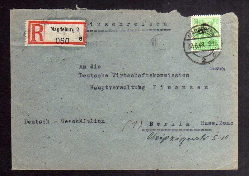 H2880 Handstempel Bezirk 20 Magdeburg 2 gepr. BPP Einschreiben 84 Pfg. 181 Bedar