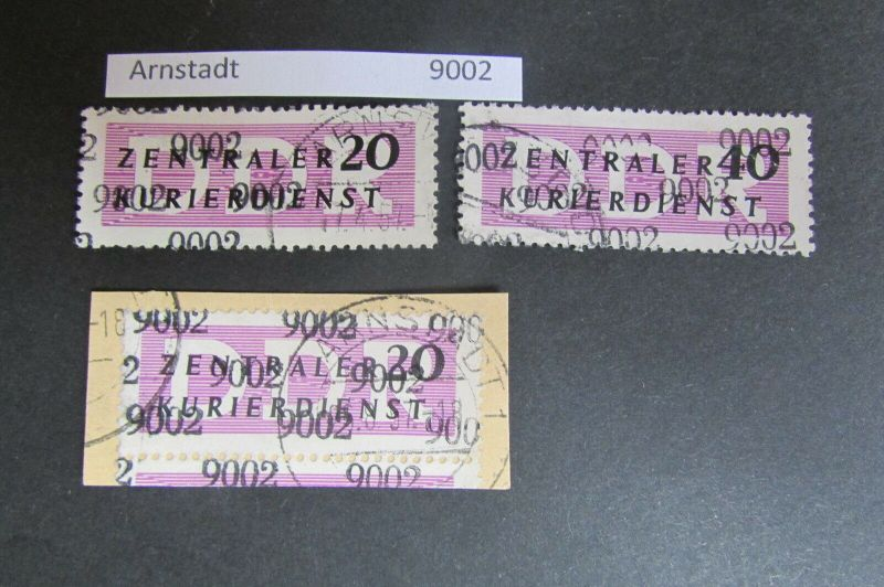 DDR ZKD Aufdruck Kontrollzahlen 9002 Arnstadt 11 12 15 gestempelt