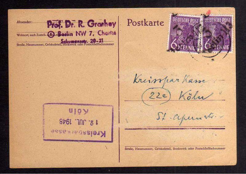 H2812 Handstempel Bezirk 3 Berlin 113 gepr. Böheim BPP Fernkarte auf alter Hitle