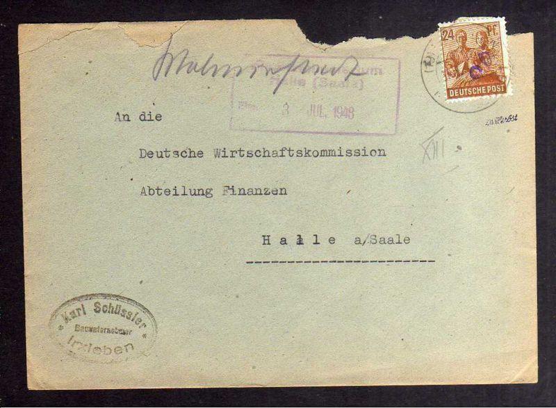 H2874 Handstempel Bezirk 20 Magdeburg abgedeckt violett Type p Großottersleben g