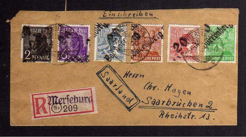 H2855 Handstempel Bezirk 20 Bad Dürrenberg gepr. BPP Sowjetische Zensur 6333 Aus