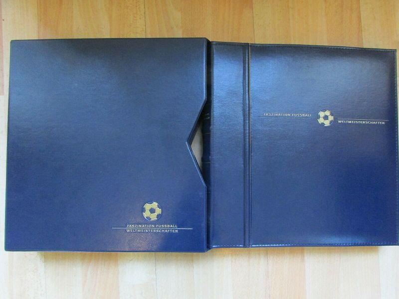 FASZINATION FUSSBALL WELTMEISTERSCHAFTEN 1930-2006 Motiv-Sammlung Album Schuber