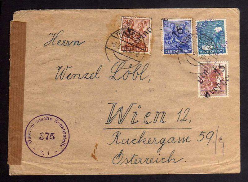 H2833 Handstempel Bezirk 16 Großheringen schwarz / violett Auslandsbrief Österre
