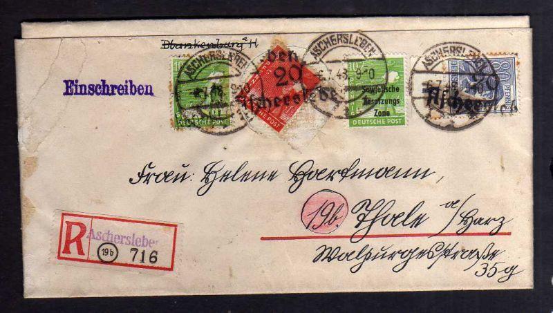 H2851 Handstempel Bezirk 20 Aschersleben gepr. BPP  auf Faltbrief von 1860 !!!