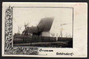Ansichtskarte Schöndorf über Weimar 1939 Landpoststempel Fotokarte