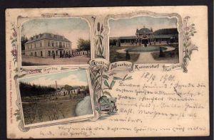 Ansichtskarte Moorbad Kunnersdorf Post Osecna Oschitz 1901 Hotel Kurhaus Veranda