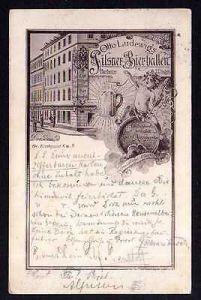 Ansichtskarte Dresden 1898 Pilsner Biehallen Gr. Kirchgasse 6 Spezial Ausschank