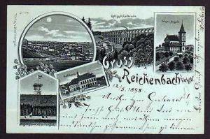 Ansichtskarte Reichenbach Vogtland Aussichtsturm Schöne Aussicht