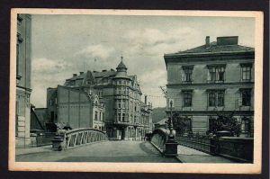 Ansichtskarte Krnov Jägerndorf Troppauerstrasse Hotel Schlesischer Hof