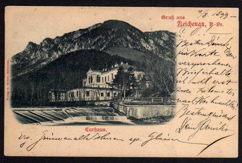 Ansichtskarte Reichenau N.-Oe. Curhaus 1899