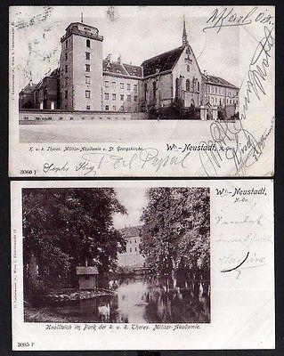 Ansichtskarte Wr.-Neustadt Wien Militär Akademie Knollteich 1901 Wiener Neustadt