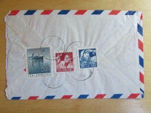 c2737 China 1960 Peking an Sächsische Zeitung Dresden Abt. Aussenpolitik