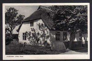 Ansichtskarte Hiddensee Altes Haus Reetdach