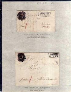 v064 aus Stettin Sammlung Preußen 2 Briefe Mi. 2 Nummernstempel 1439 Usedom bzw.