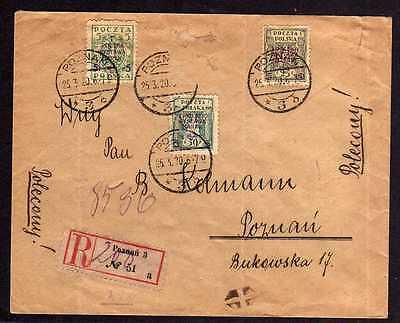 großer Brief Posen 1920 Nationale Briefmarkenausstellung Warschau POLSKA