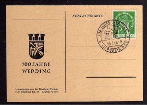 B1238 Karte Westberlin Berlin 68 Währungsgeschädigte SST 700 Jahre Wedding blank