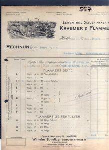 v557 Briefbogen Firmenrechnung Heilbronn Seifen & Glyceinfabrik Kraemer & Flamme