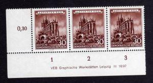 DDR 1955 495 Historische Bauwerke R 1-3 ** DV ungefalten, nicht angetrennt