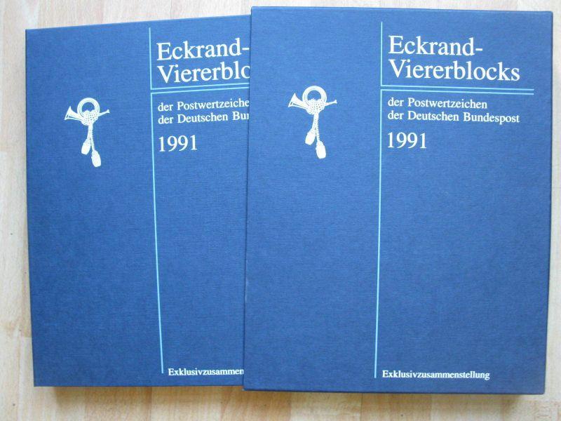 BRD 1991 Jahres Exklusivzusammenstellungen mit Eckrand Viererblocks ** Muster