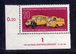 DDR 789 ** DV  Tag der Briefmarke Wolf Variante c/1