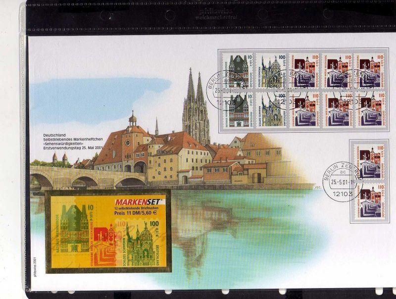 B200 Brief Deutschland 1995 1996 2001 Markenhftchen FDC