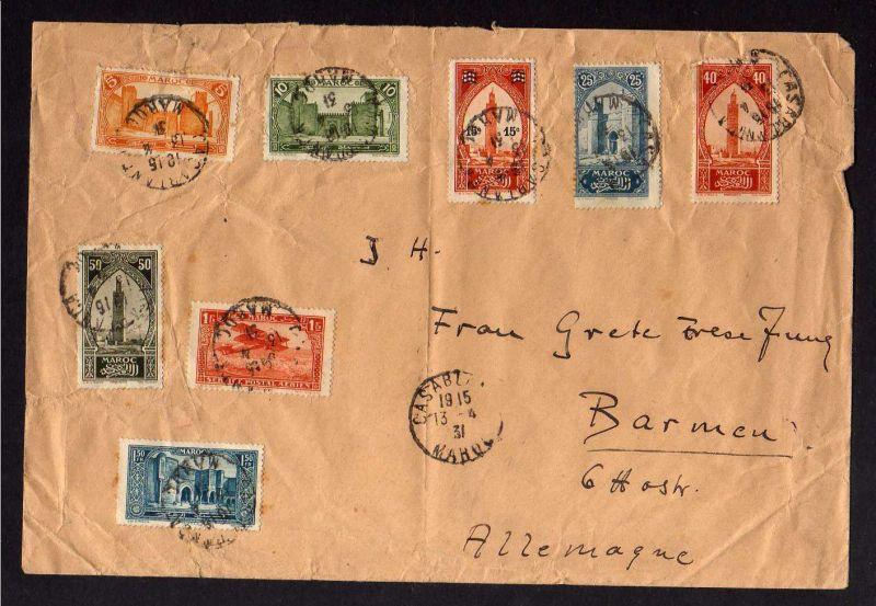 B197 Brief Marocco 1931 Casablanca