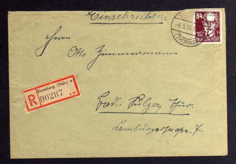 B1270 DDR 341 va XI gepr. Schönherr BPP Brief Eisenberg nach Bad Sulza