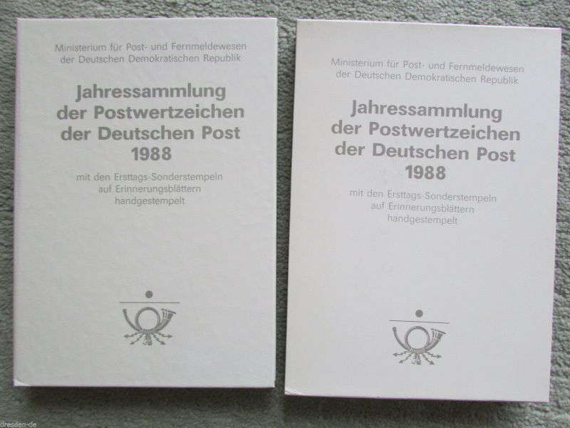 DDR Jahressammlung 1988 1 Band im Schuber gestempelt mit Ganzsachen