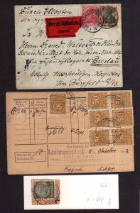 v150 Leutmannsdorf über Reichenbach Schlesien Eilboten Brief Express 1915 Postka