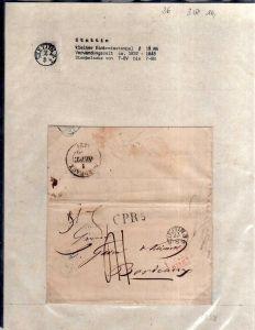 v036 aus Stettin Sammlung 3 Briefe 1838 kleiner Einkreisstempel nach Bordeaux Wo