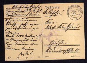v175 Neuhammer Quais 1941 Feldpost nach Gotha