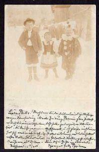 Ansichtskarte Farrnbach Fotokarte 1907 Circus Clown Kind kasper