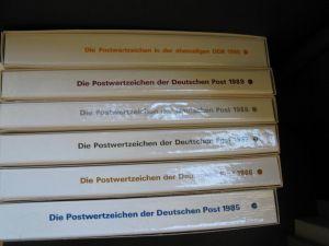 Sammlung DDR Ersttagsblatt Jahressammlung 1985 - 1990 komplett  6 Stück