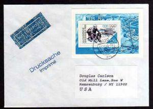 DDR 1988 Einzelfrankatur EF Block 90 Luftpost Drucksache nach USA